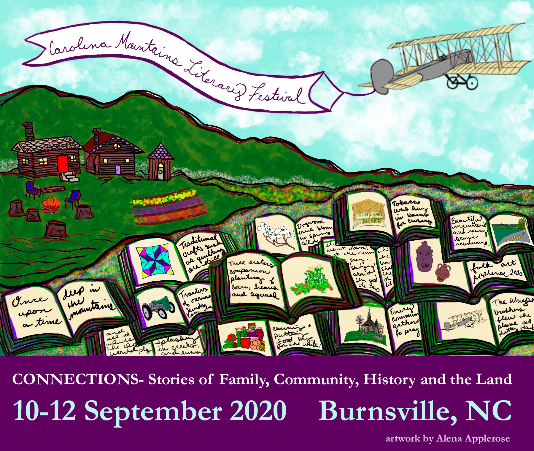 Artwork for the 202 Carolina Mountains Literary Festival