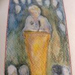 Gail Godwin watercolor LitFest Podium